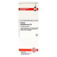 ACIDUM PHOSPHORICUM D 2 Dilution 50 Milliliter N1 - Vorderseite