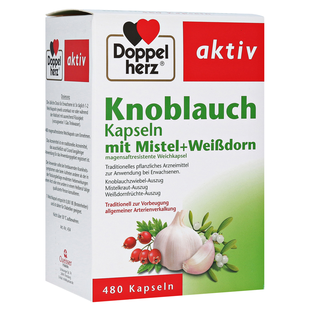 Doppelherz aktiv Knoblauch mit Mistel+Weißdorn Kapseln 480 Stück