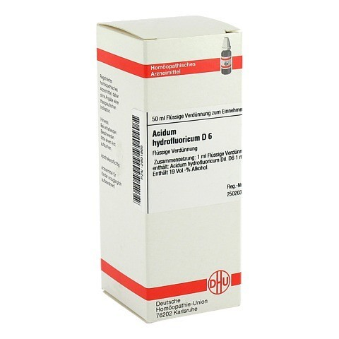 ACIDUM HYDROFLUORICUM D 6 Dilution 50 Milliliter N1