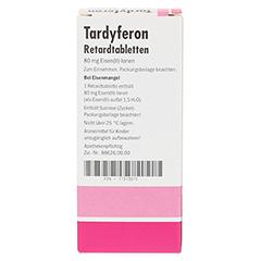 Tardyferon Depot-Eisen(II)-sulfat 80mg 50 Stück N2 - Rückseite