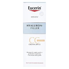 EUCERIN Anti-Age HYALURON-FILLER CC Cream hell 50 Milliliter - Rückseite