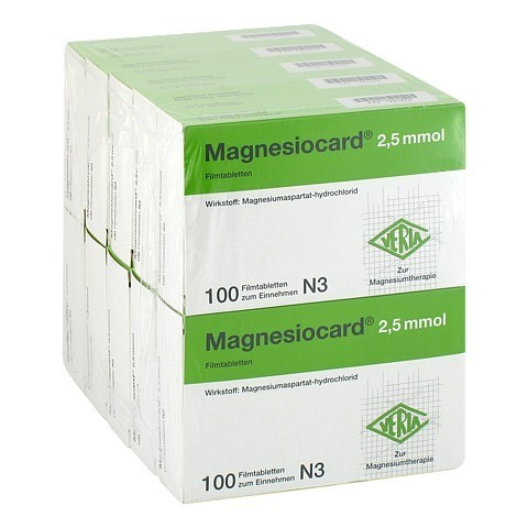 MAGNESIOCARD 2,5 mmol Filmtabletten 10x100 St�ck