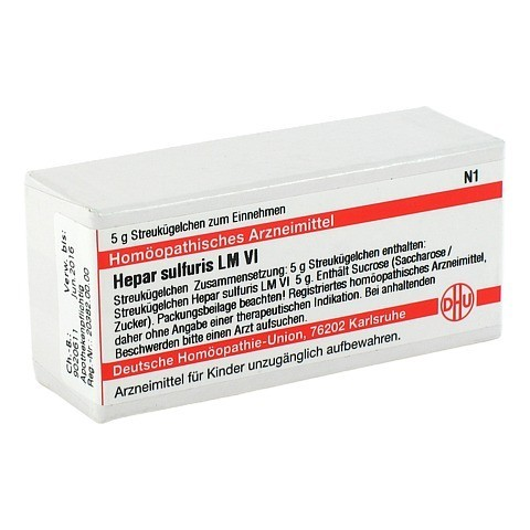 LM HEPAR sulfuris VI Globuli 5 Gramm N1
