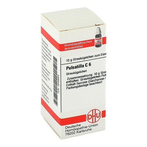 PULSATILLA C 6 Globuli 10 Gramm N1
