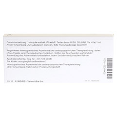 TESTES GL D 5 Ampullen 10x1 Milliliter N1 - R�ckseite