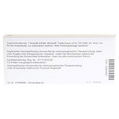 TESTES GL D 5 Ampullen 10x1 Milliliter N1 - Rückseite
