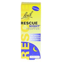 BACH ORIGINAL Rescue night Tropfen alkoholfrei 10 Milliliter - Vorderseite