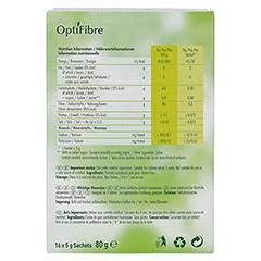 OPTIFIBRE Pulver 16x5 Gramm - Rückseite