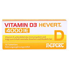 VITAMIN D3 Hevert 4.000 I.E. Tabletten 30 Stück - Vorderseite