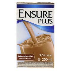 ENSURE Plus Drink Kakao Tetra 200 Milliliter - Vorderseite