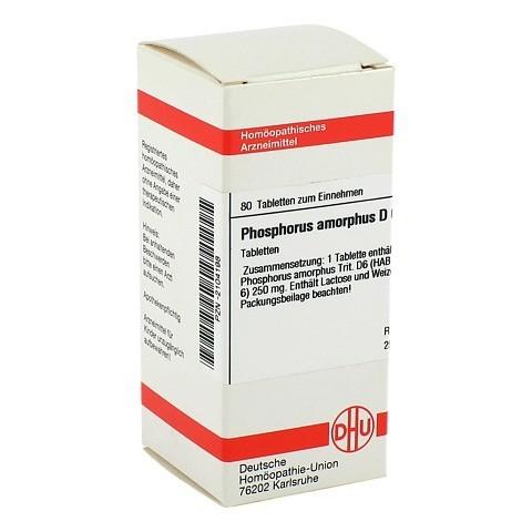 PHOSPHORUS AMORPHUS D 6 Tabletten 80 St�ck N1