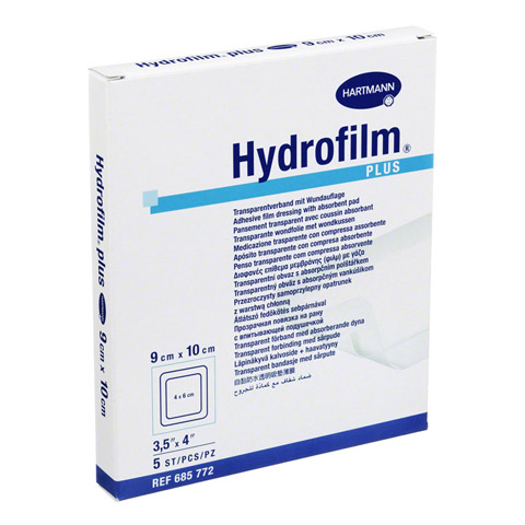 HYDROFILM Plus Transparentverband 9x10 cm 5 Stück