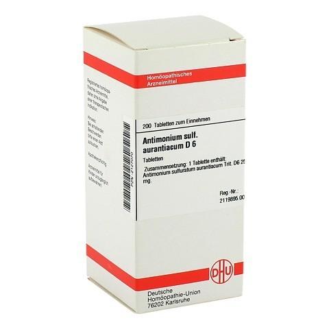 ANTIMONIUM SULFURATUM aurantiacum D 6 Tabletten 200 St�ck N2