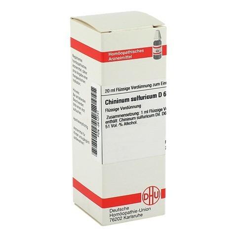 CHININUM SULFURICUM D 6 Dilution 20 Milliliter N1