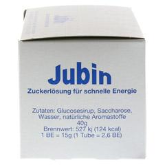 JUBIN Zuckerlösung schnelle Energie Tube 12x40 Gramm - Rechte Seite