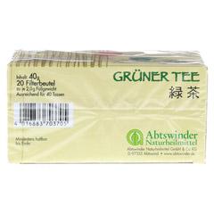 GRÜNER TEE Filterbeutel 20 Stück - Unterseite