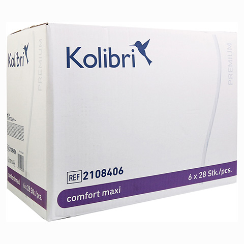 KOLIBRI comfort premium Einlagen anatomisch maxi 6x28 St�ck