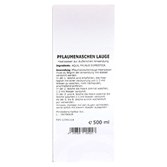 PFLAUMENASCHENLAUGE Haarwasser 500 Milliliter - Rückseite