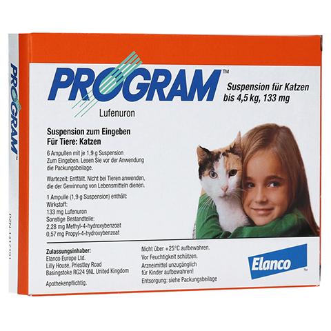 PROGRAM Suspens.f.Katzen b.4,5 kg/133 mg Ampullen 6 St�ck