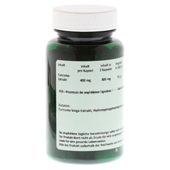 CURCUMA 400 mg Kapseln 60 St�ck - R�ckseite