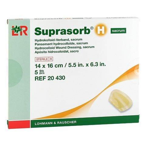 SUPRASORB H Hydrokoll.Verb.sacrum 14x16 cm 5 St�ck