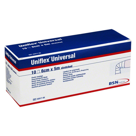 UNIFLEX Universal Binden 6 cmx5 m Zellglas weiß 10 Stück
