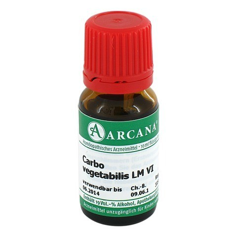 CARBO VEGETABILIS Arcana LM 6 Dilution 10 Milliliter N1
