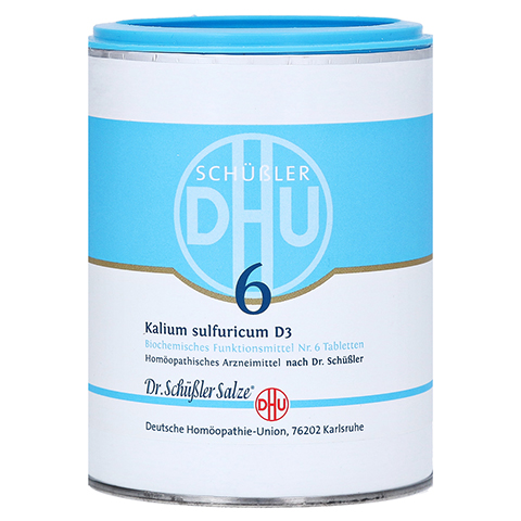 BIOCHEMIE DHU 6 Kalium sulfuricum D 3 Tabletten 1000 St�ck
