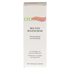 CELYOUNG age less Augencreme Granatapfel 15 Milliliter - R�ckseite