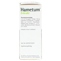 Hametum Extrakt 50 Milliliter N2 - Rechte Seite