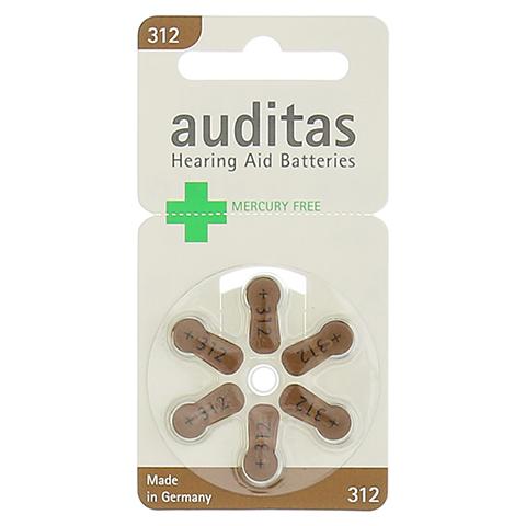 AUDITAS Hörgerätebatterie 312 Quecksilber frei 6 Stück