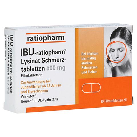 IBU-ratiopharm Lysinat Schmerztabletten 500mg 10 Stück N1
