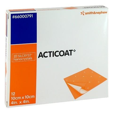 ACTICOAT 10x10 cm antimikrobielle Wundauflage 12 Stück