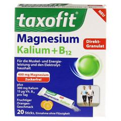 TAXOFIT Magnesium+Kalium+B12 Direkt-Granulat 20 Stück - Vorderseite