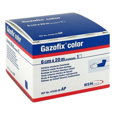 GAZOFIX color Fixierbinde 6 cmx20 m blau 1 Stück