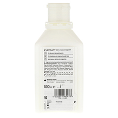 ESEMTAN dry skin balm 500 Milliliter - Rückseite