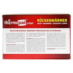 THERMOPAD R�ckenw�rmer 5 St�ck - R�ckseite