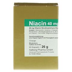 NIACIN 40 mg pro Kapsel 60 Stück - Vorderseite