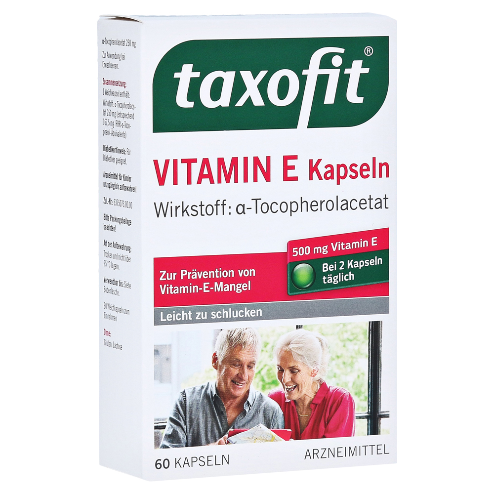 taxofit vitamin e weichkapseln 60 st ck online bestellen. Black Bedroom Furniture Sets. Home Design Ideas