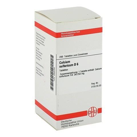 CALCIUM SULFURICUM D 6 Tabletten 200 Stück N2