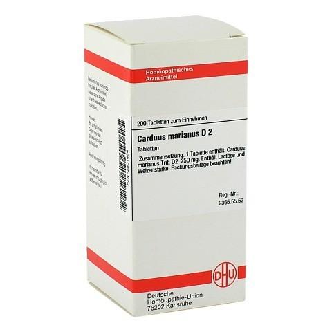 CARDUUS MARIANUS D 2 Tabletten 200 St�ck N2