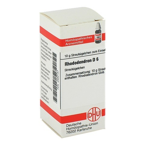 RHODODENDRON D 6 Globuli 10 Gramm N1