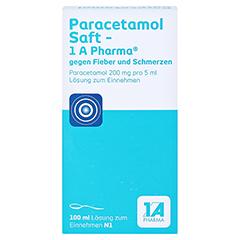 Paracetamol Saft-1A Pharma gegen Fieber und Schmerzen 100 Milliliter N1 - Vorderseite