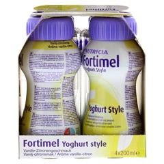 FORTIMEL Yoghurt Style Vanille Zitronegeschmack 4x200 Milliliter - Linke Seite