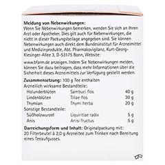 H&S Erkältungstee 20 Stück - Linke Seite
