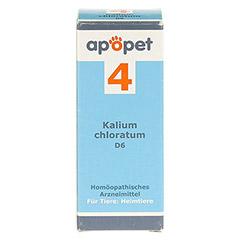 APOPET Schüßler-Salz Nr.4 Kalium chlor.D 6 vet. 12 Gramm - Vorderseite