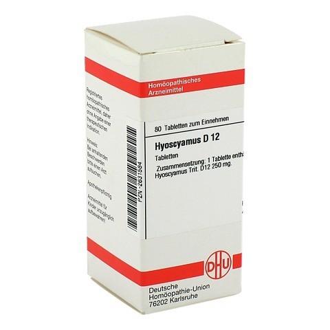 HYOSCYAMUS D 12 Tabletten 80 St�ck N1