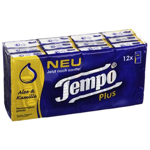TEMPO Plus Taschent�cher 12x10 St�ck