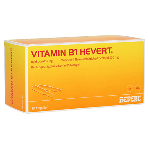 VITAMIN B1 Hevert Ampullen 50 Stück