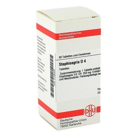 STAPHISAGRIA D 4 Tabletten 80 St�ck N1